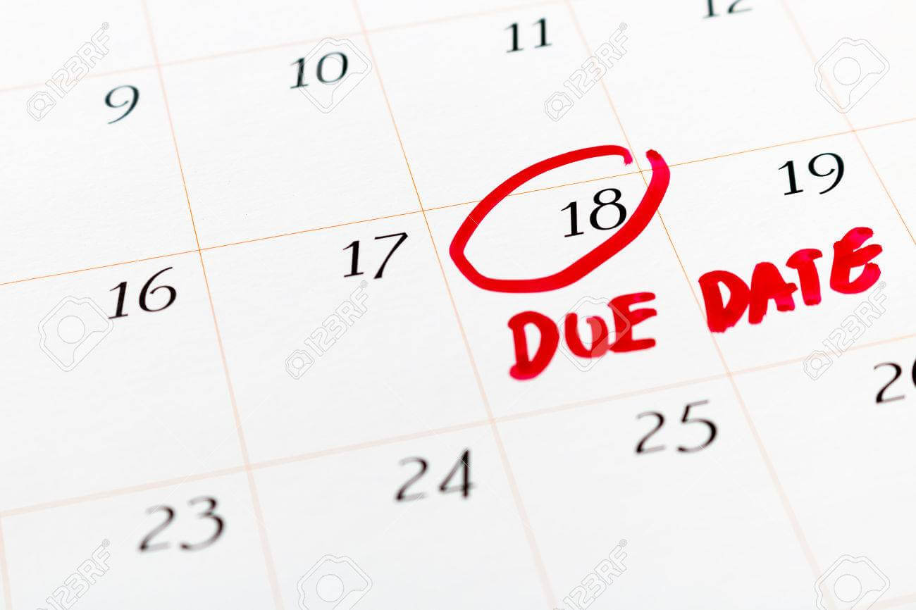 Reminder on due date