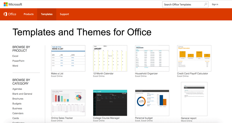 Microsoft Office Template