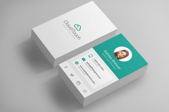 Choose business card layout